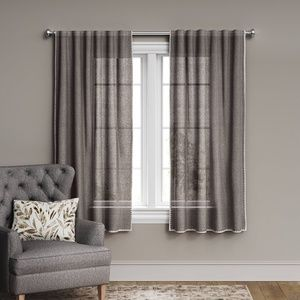 1 Threshold Stitched Edge Filtering Curtain Panel